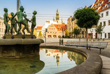 Kinderbrunnen in Zwickau am Hauptmarkt