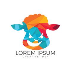 Sheep logo design. Farm Animals.