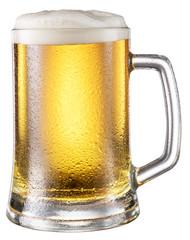 Steamy mug of beer.