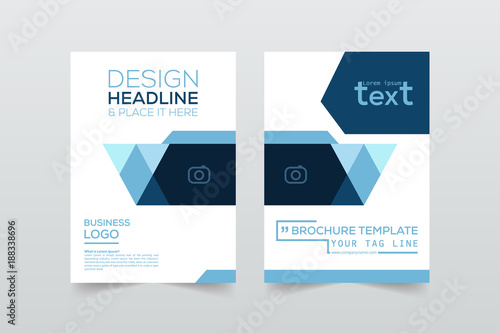 Front And Back Cover Of A Modern Business Brochure Layout Or Flyer - Business brochure template
