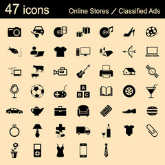 47 icons online stores