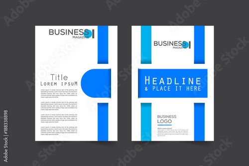 Front And Back Cover Of A Modern Business Brochure Layout Or Flyer - Brochure layout template