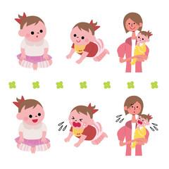 女の子 赤ちゃん 表情 セット