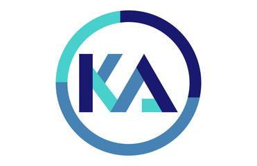 Obraz KA Global Circle Ribbon Letter Logo - fototapety do salonu