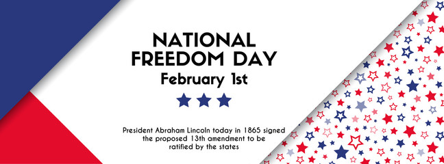 National freedom day. Vector banner