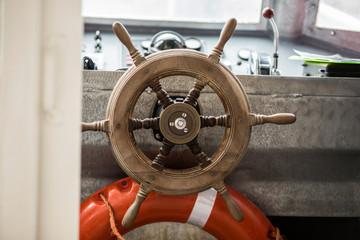 Small boat steering wheel