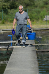 fish farms worker