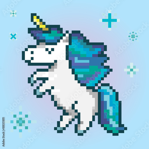 Pixel Art Licorne Difficile