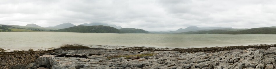 Loch Carron, Ross and Cromarty, Scottish Highlands; panorama