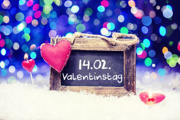 am 14.02. ist Valentinstag