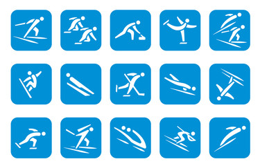Wintersport Icon - Blau (Kreis)