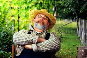 Gärtner macht Pause