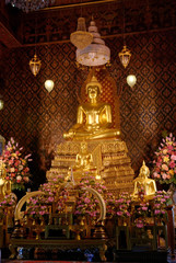 Beautiful Buddha statue in the Thai Buddhist temple