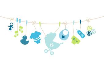 Boy Baby Symbols Hanging