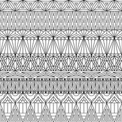 Geometric ornamental seamless pattern