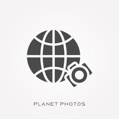 Silhouette icon planet photos
