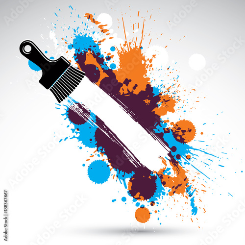 Art Drawn Funky Vector Illustration Created With Splashes And Inky Spots Decorative Colorful Wallpaper