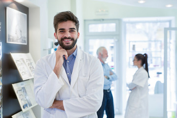 Portrait of a smiling doctor.