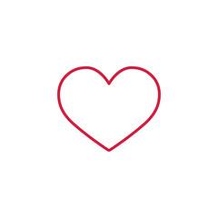 heart love romance symbol thin line red icon