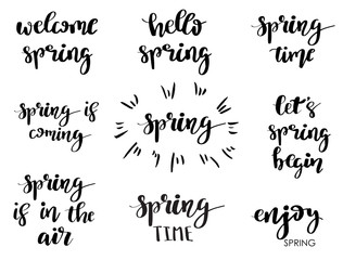 Spring Phrases set