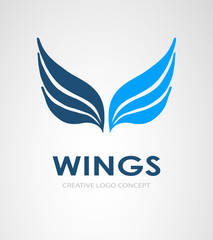 Wings vector logo, Wings icon.