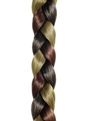 hair braid of three colors