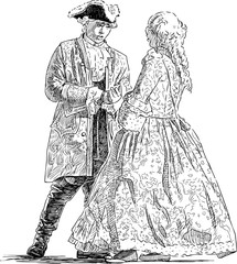 Gentleman and lady are talking
