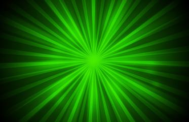 Green glitter sparkles rays lights bokeh festive elegant abstract background.