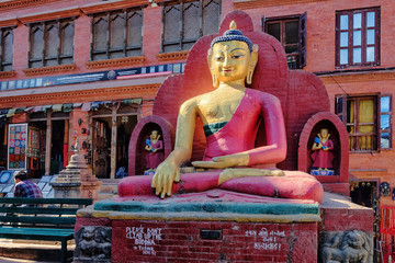Buddha in Swayambhunath, Kathmandu, Nepal