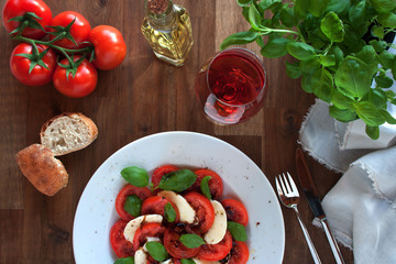 Recess Fitting Appetizer Tomatoes with mozzarella