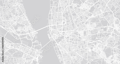 Urban vector city map of Liverpool, England\