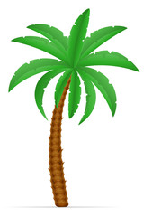 palm tree and accessories for rest stock vector illustration