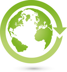 Erde und Pfeil, Erdball, Erde, Ökologie, Logo