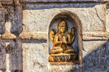 Little Buddha Sculpure in Main Stupa, Swayambhunath, Kathmandu, Nepal