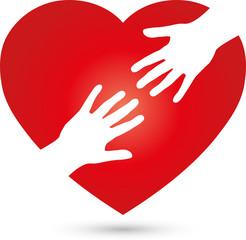 Herz und Hände, Herz, Hände, Helfer, Logo