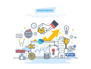 Financial investments, marketing, finance, analysis, security financial savings and money.