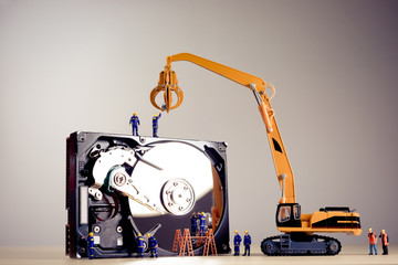 Repair of the dismantled hard drive
