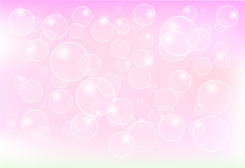 abstract bubble floating on pink vector illustration background