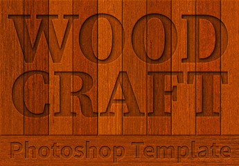 Wood Texture and Font Styles Set