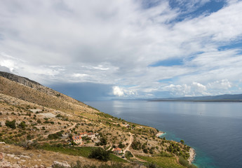 Panoramic view of the vineyard on the Adriatic coast