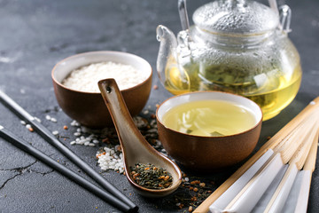 Genmaicha with roasted brown rice
