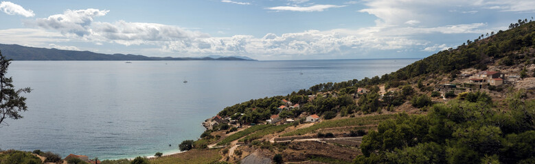 Isolated rural settlement at the Adriatic Sea
