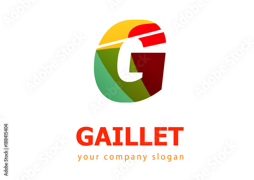 letter g logo template for your company fotolia com の ストック画像
