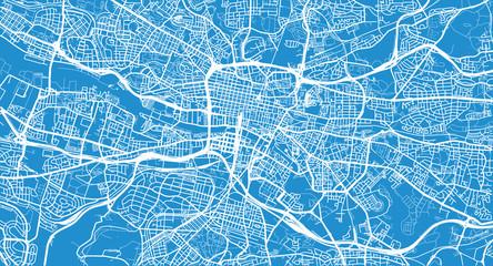 Urban vector city map of Glasgow, Scotland
