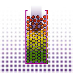 Big data systematization algorithms. Infographics Design. Technology Background. Vector Illustration.