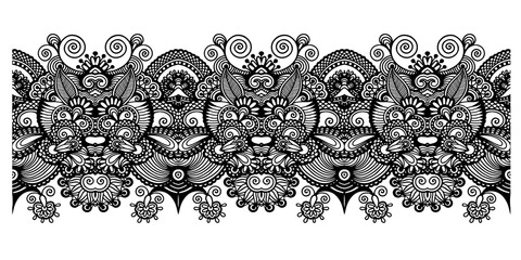 decorative ethnic stripe pattern, indian paisley design