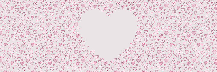 Layout of card for Valentine's Day, Mother's Day or Women's Day. Vector.