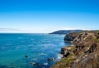 Jagged California Ocean Shoreline