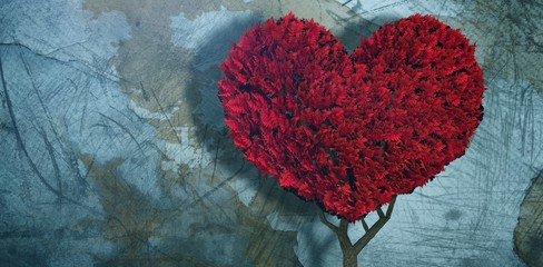 Composite image of love heart plant