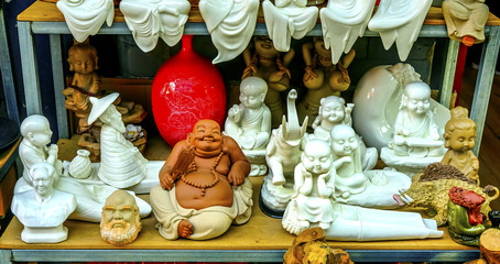 Chinese Replica Ceramic Buddhas Decorations Panjuan Flea Market  Beijing China